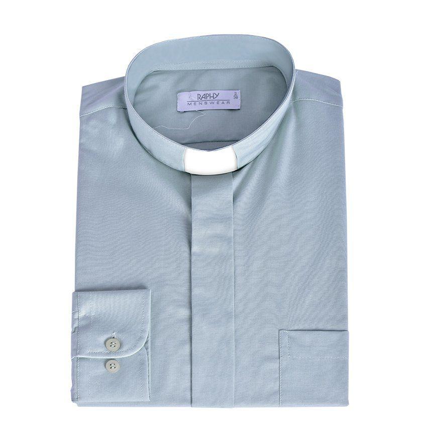 Camisa Clerical Manga Longa Natural Blend