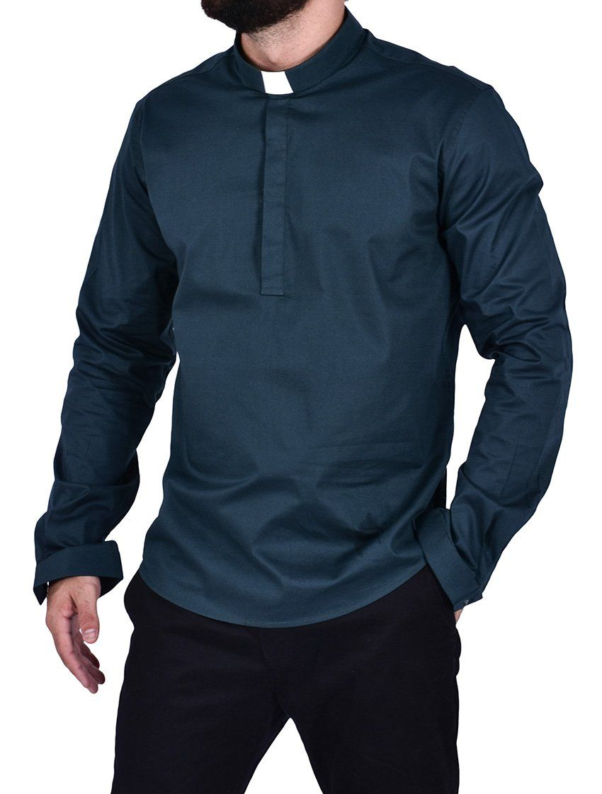 Camisa Clerical Slim Young Priest Tricoline