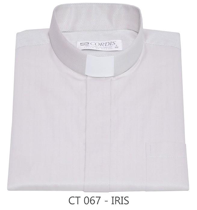 Camisa Clerical Tradicional Irís Manga Curta