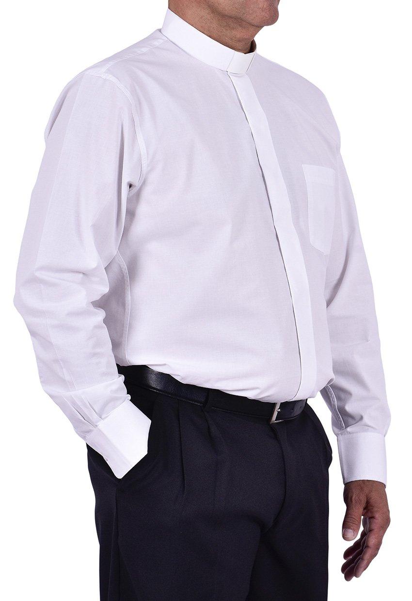 Camisa Clerical Tradicional Manga Longa