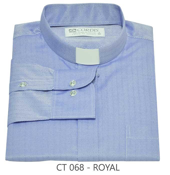 Camisa Clerical Tradicional Royal Manga Longa