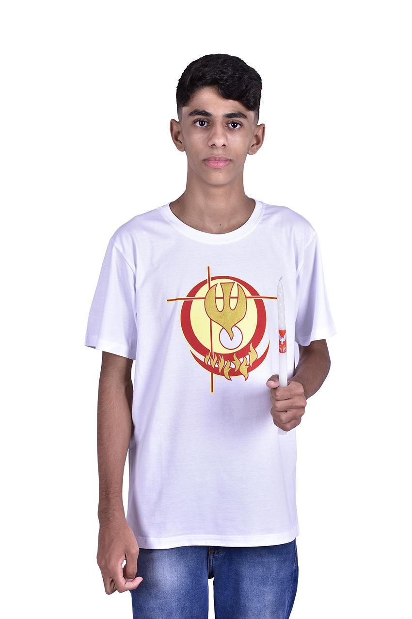 Camisa Crisma Branca Infantil S024