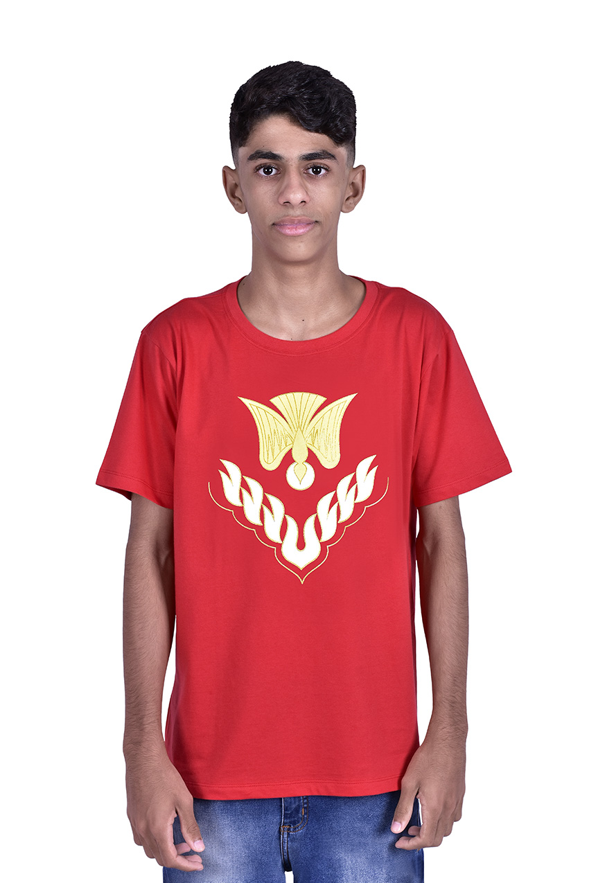 Camisa Crisma Vermelha Infantil S023