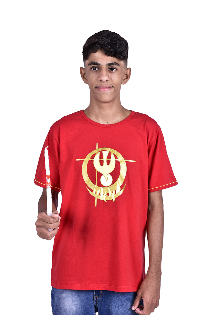 Camisa Crisma Vermelha Infantil S024