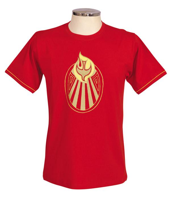 Camisa Crisma Vermelha Infantil S055