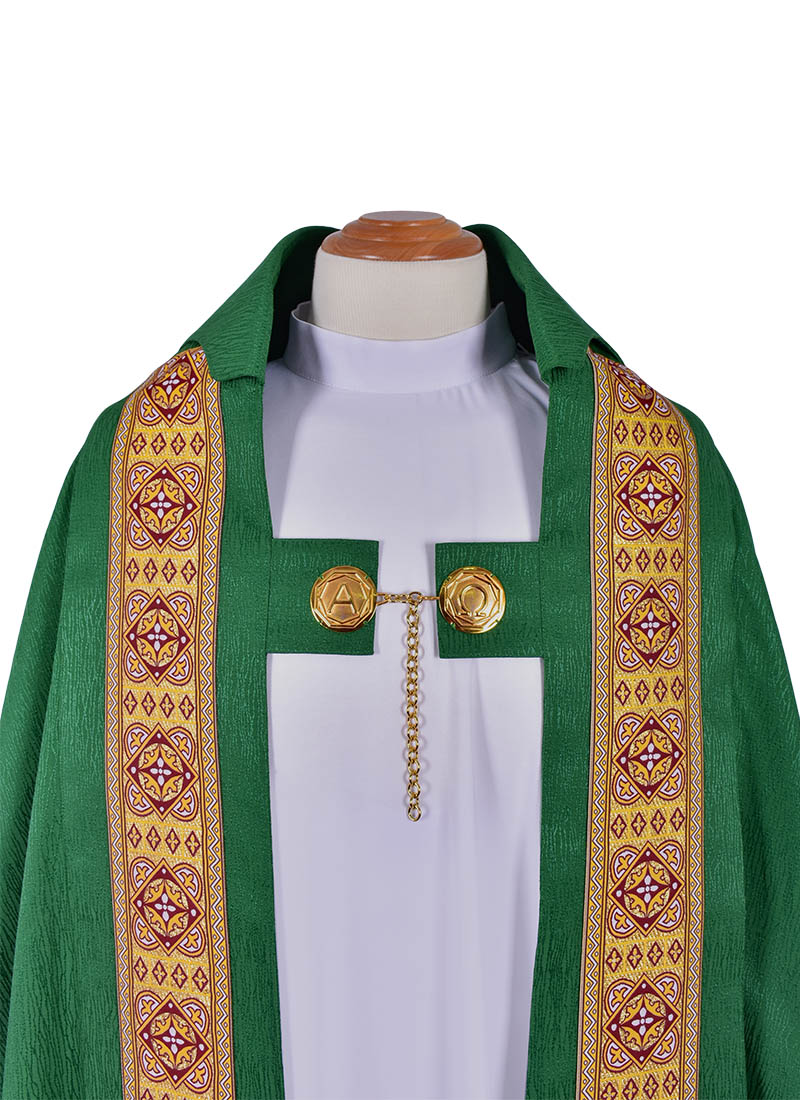 Capa de Asperges Paroquial cor Verde CP513