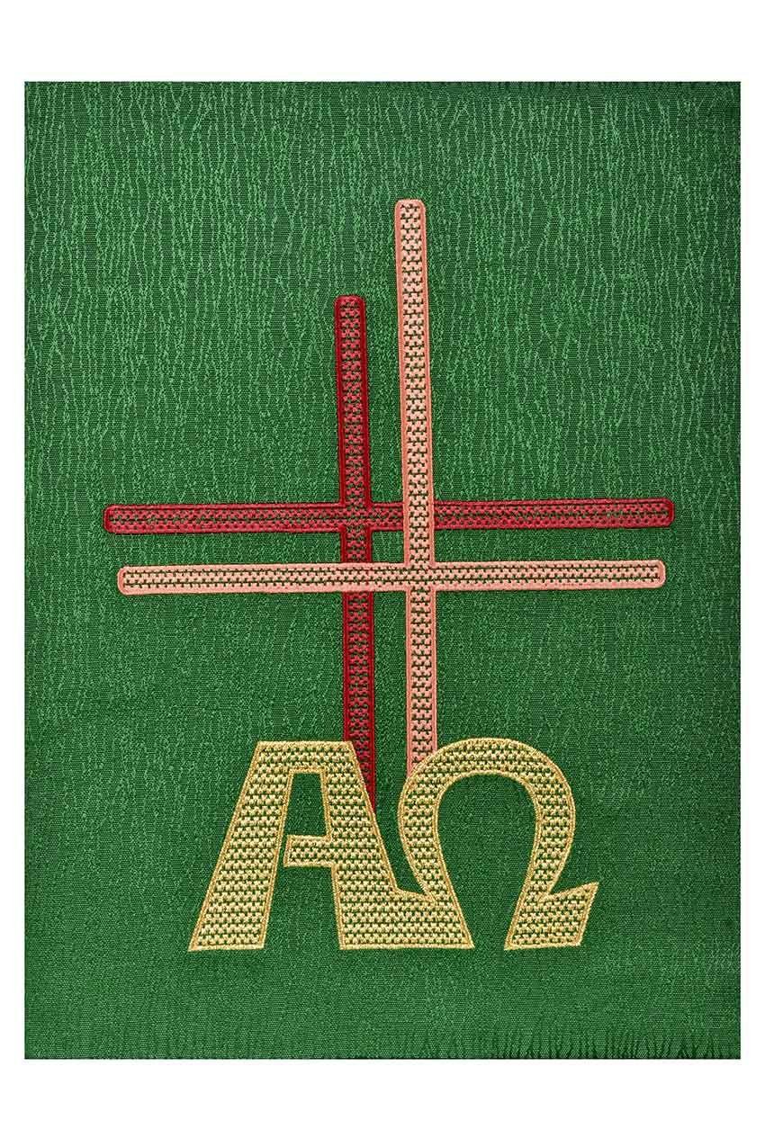 Capa Evangeliário Alfa e Ômega Jacquard CE302