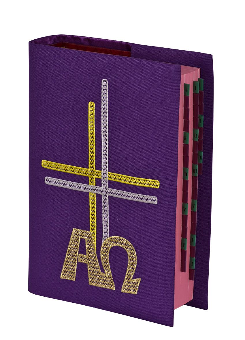 Capa Missal Alfa e Ômega Bordada B006 CM089