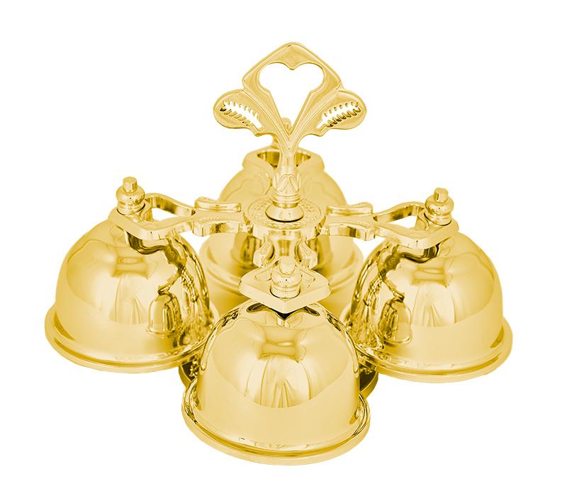 Carrilhão Dourado Total 4 Sinos 640