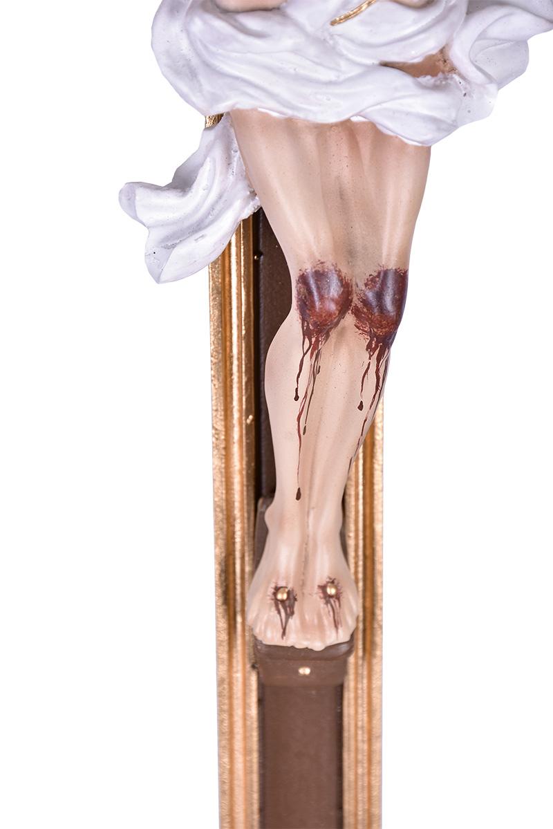 Castiçal com Cruz Resina 120 cm