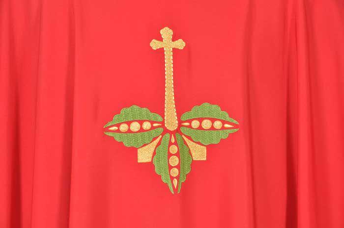 Casula Nova Aliança Vermelho Cruz