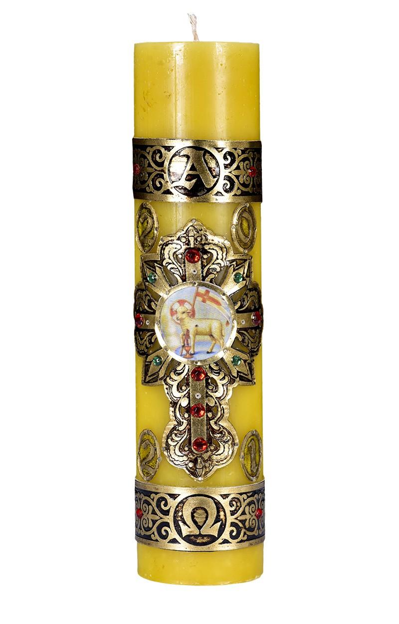 Círio Pascal Cordeiro 109 30x7 cm