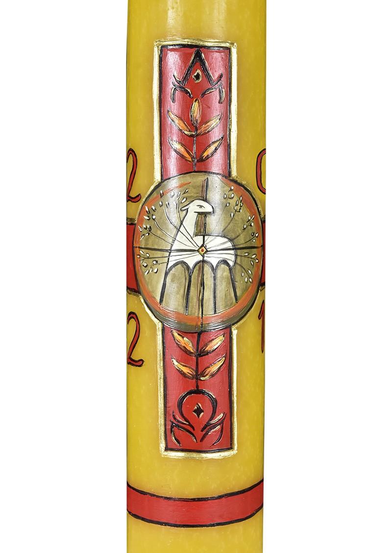 Círio Pascal Decoração Artesanal 2021 Cera 72x9,5cm