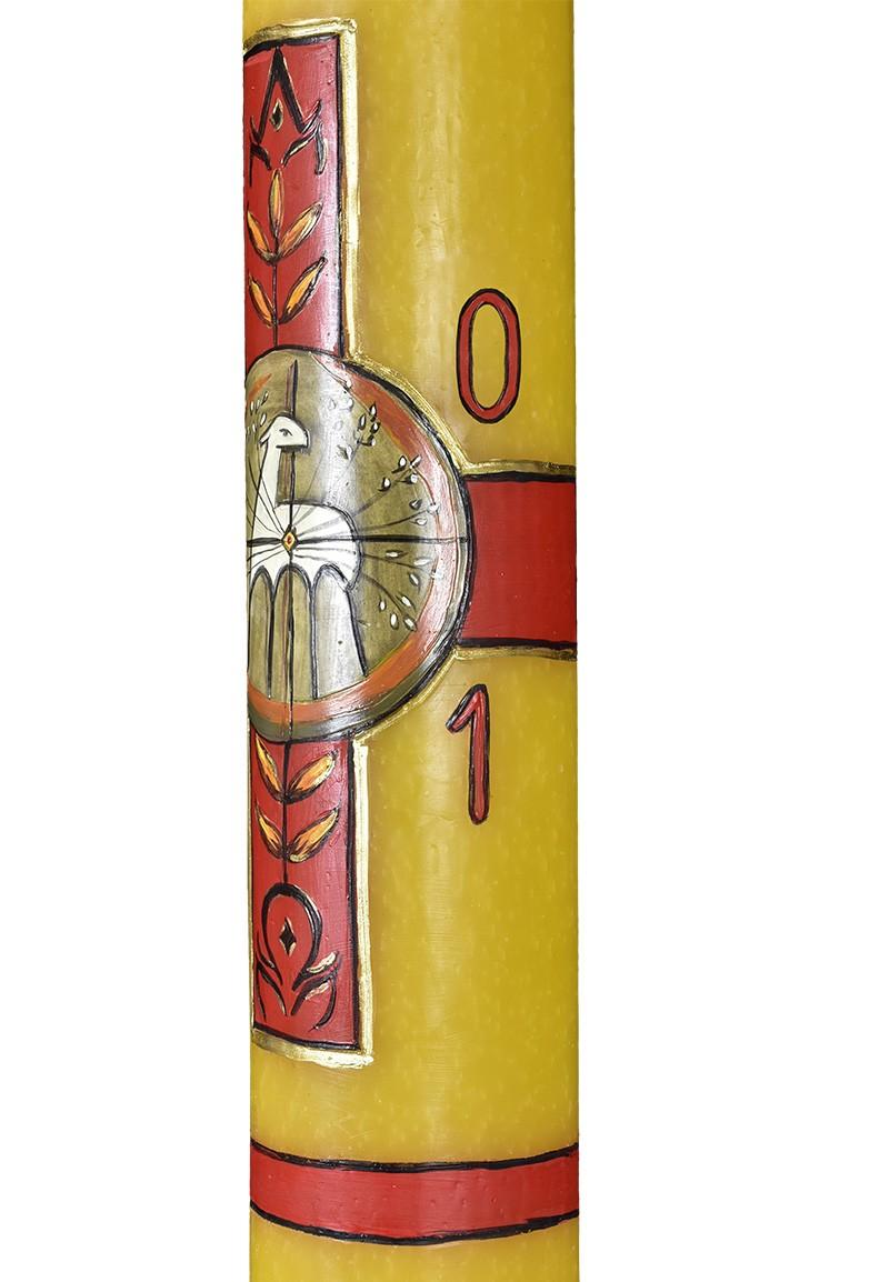 Círio Pascal Decoração Artesanal 2021 Cera 92x9,5cm