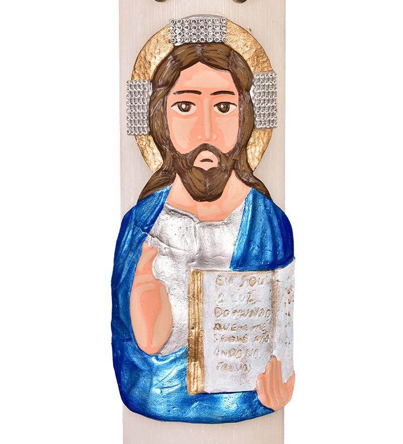 Círio Pascal Relevo Cristo 100 x 9cm