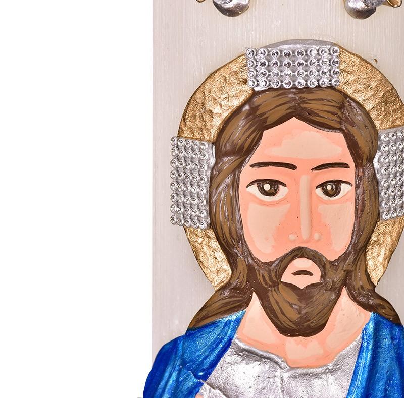 Círio Pascal Relevo Cristo 80 x 9cm