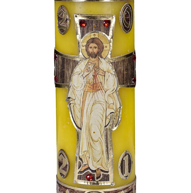Círio Pascal Ressuscitado 105 50x7 cm