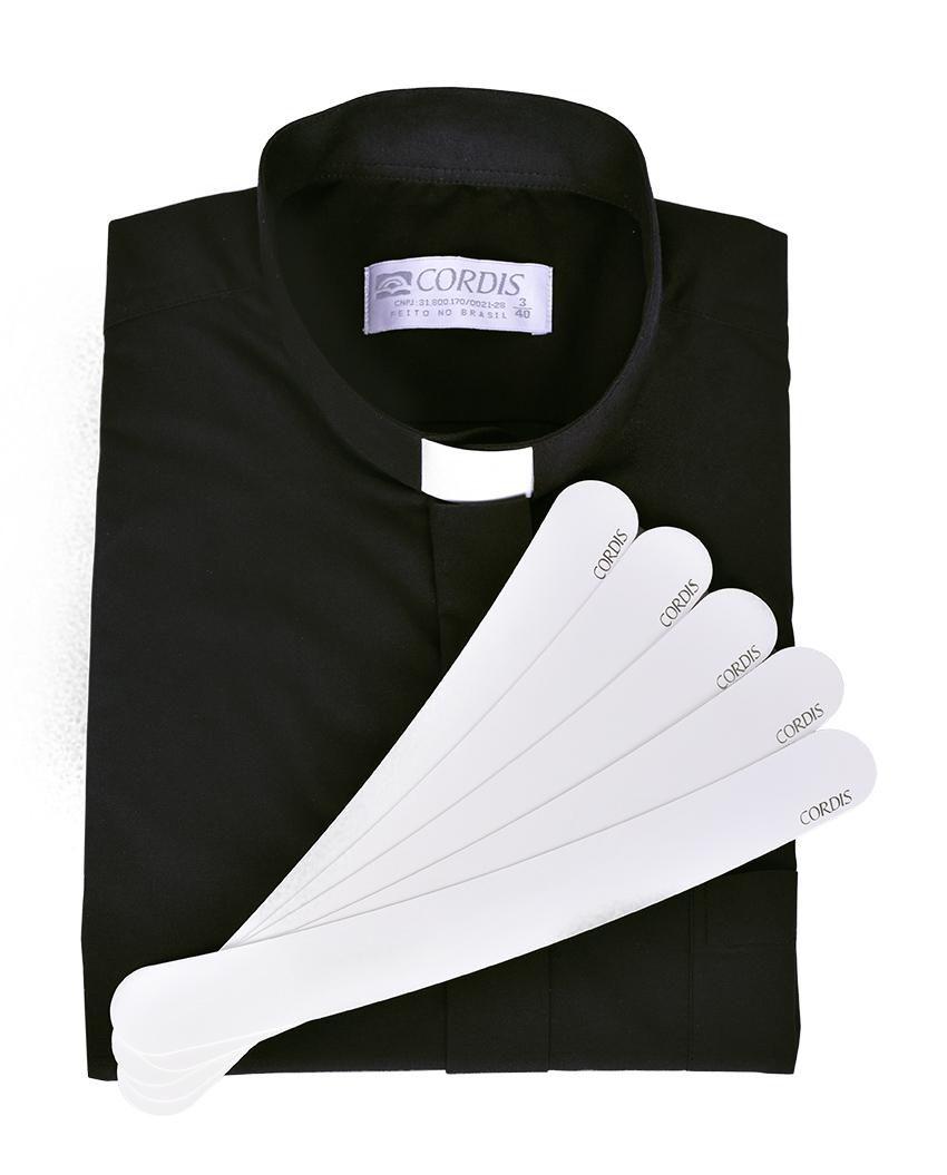 Colarinho para Camisa Clerical - Pacote 5 un