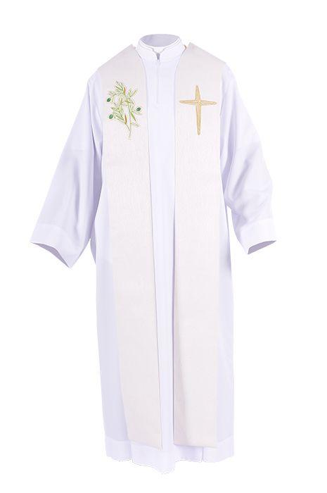 Coleção Missa do Crisma com Casulas, Dalmática, Estola Diaconal, Estola Sacerdotal, Mitra e Véus de Ombros