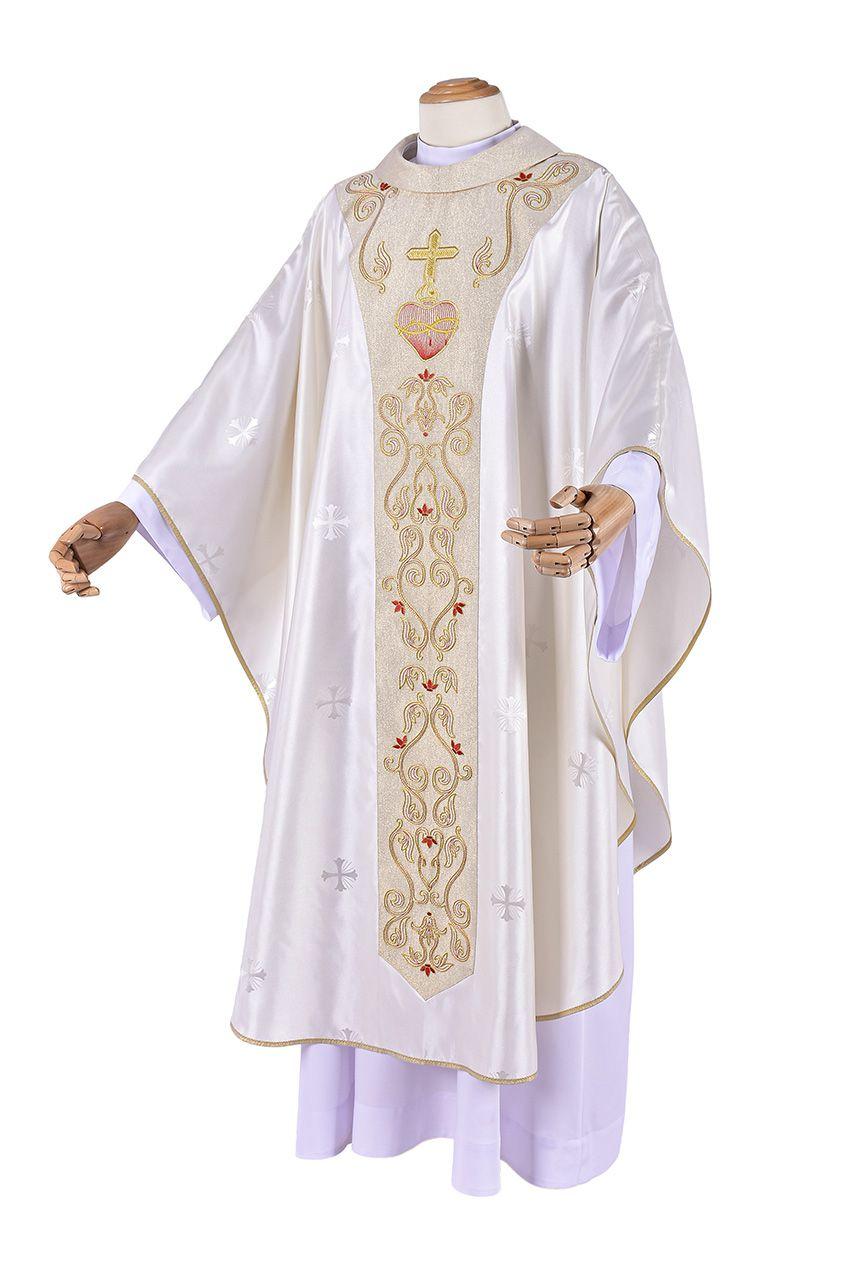 Coleção Presbiteral Sagrado Coração com Casula e Estola Sacerdotal