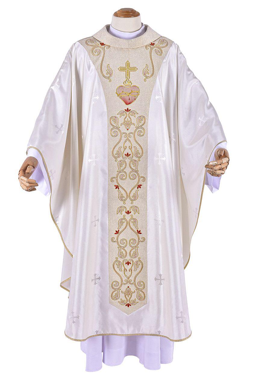 Coleção Sagrado Coração com Casula, Estola Sacerdotal, Mitra, Dalmática, Estola Diaconal, Estandarte