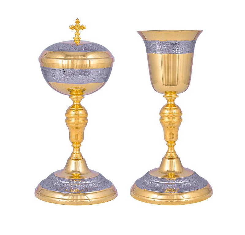 Conjunto Âmbula e Cálice Dourado 622