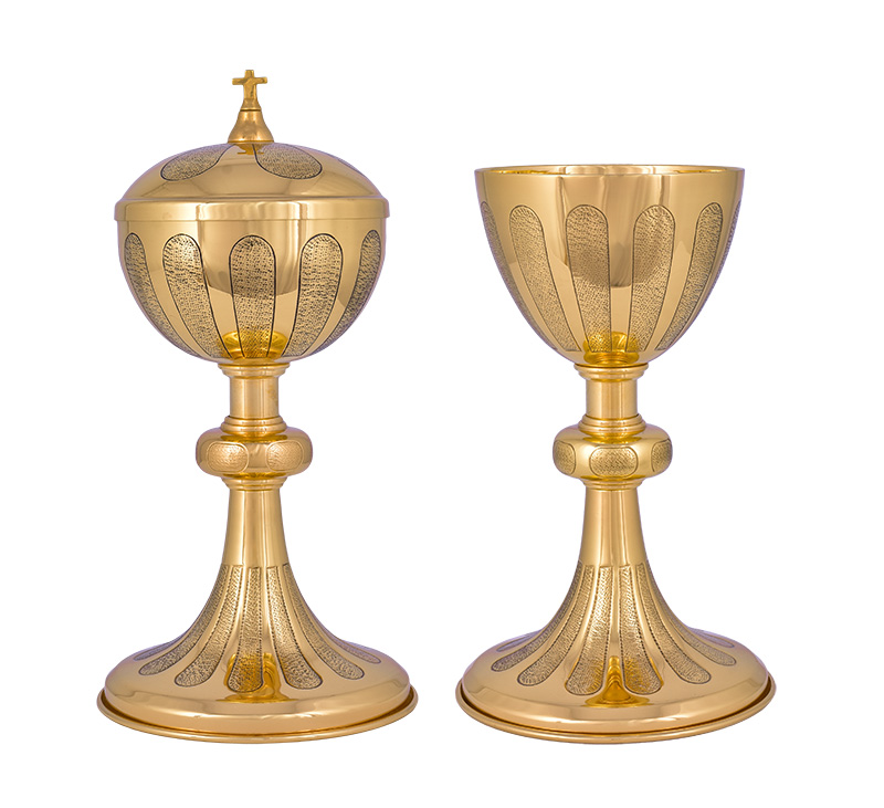 Conjunto Âmbula e Cálice Dourado 720