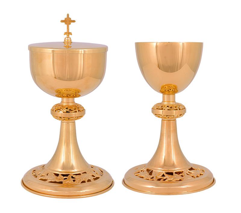 Conjunto Âmbula e Cálice Dourado 727