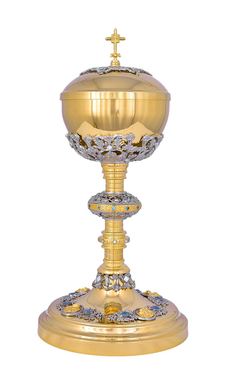 Conjunto Âmbula e Cálice Dourado 816/3