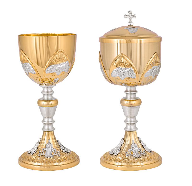 Conjunto Âmbula e Cálice Dourado 9118/1118