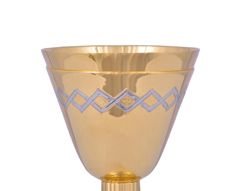 Conjunto Âmbula e Cálice Dourado 711