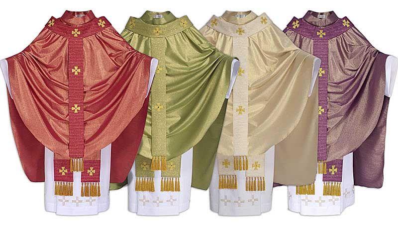 Conjunto Casula Santo Ambrósio CS424 com 4 cores