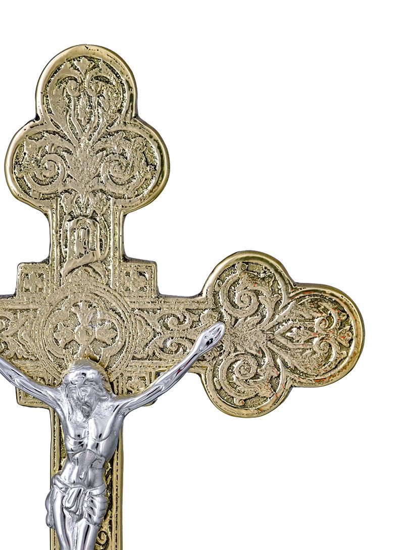 Conjunto Crucifixo e Castiçal 140 com 4 Castiçais e 1 Crucifixo