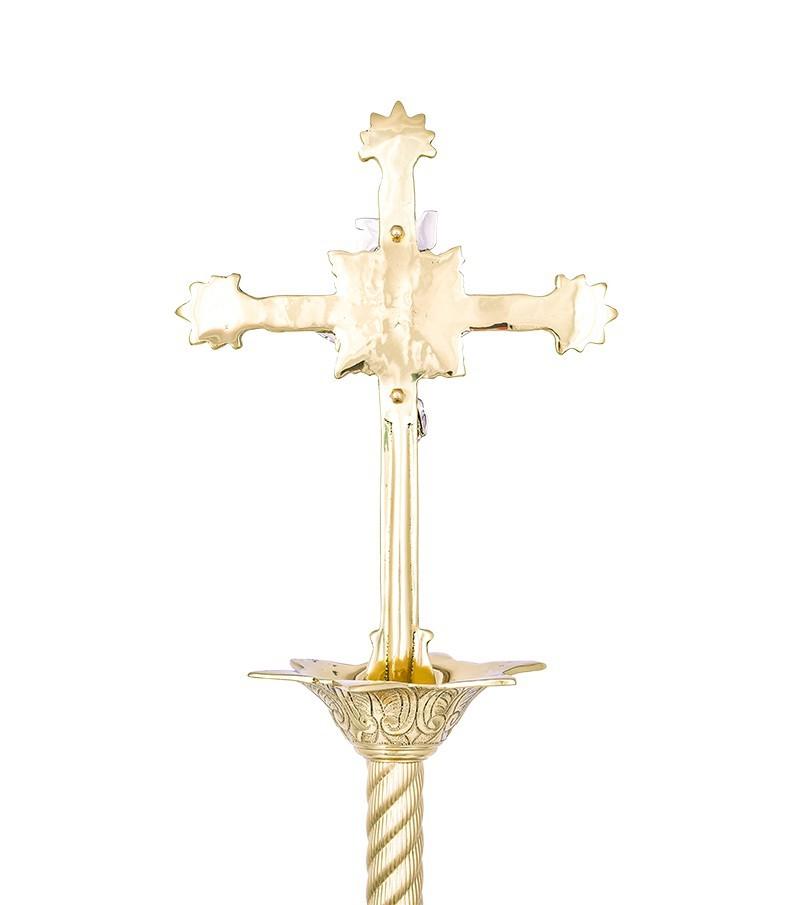 Conjunto Crucifixo e Castiçal 141 com 2 Castiçais e 1 Crucifixo