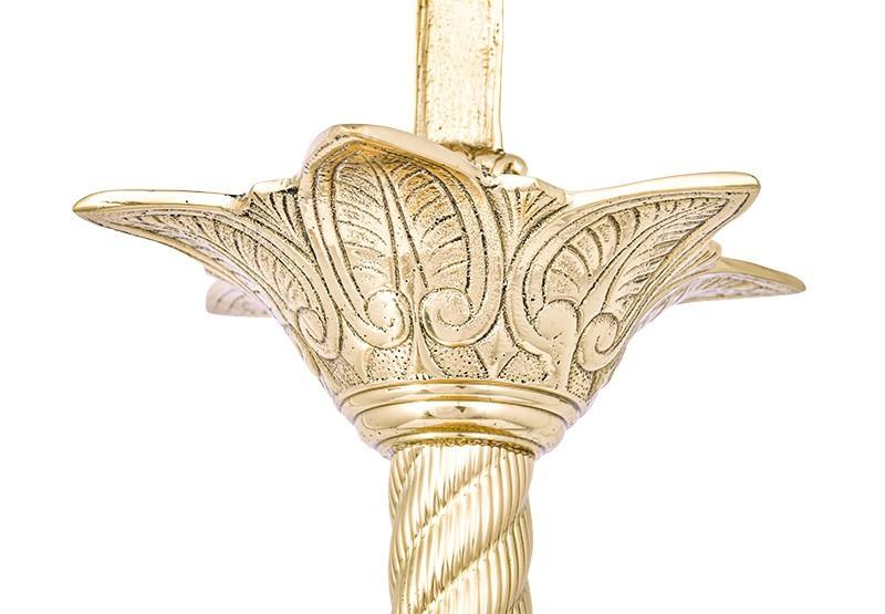 Conjunto Crucifixo e Castiçal 141 com 4 Castiçais e 1 Crucifixo