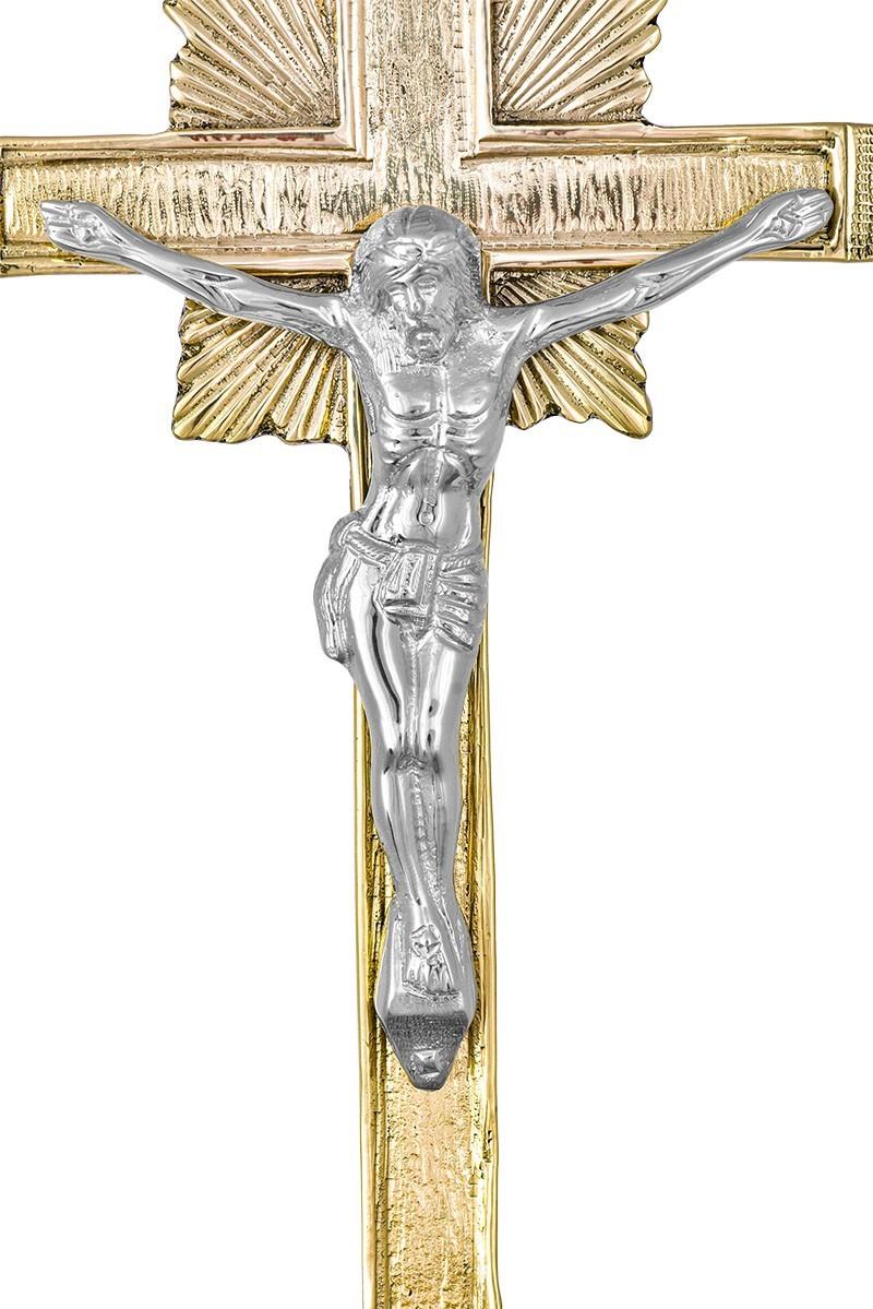 Conjunto Crucifixo e Castiçal 141 com 6 Castiçais e 1 Crucifixo