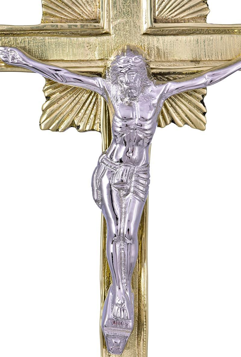 Conjunto Crucifixo e Castiçal 142 com 4 Castiçais e 1 Crucifixo