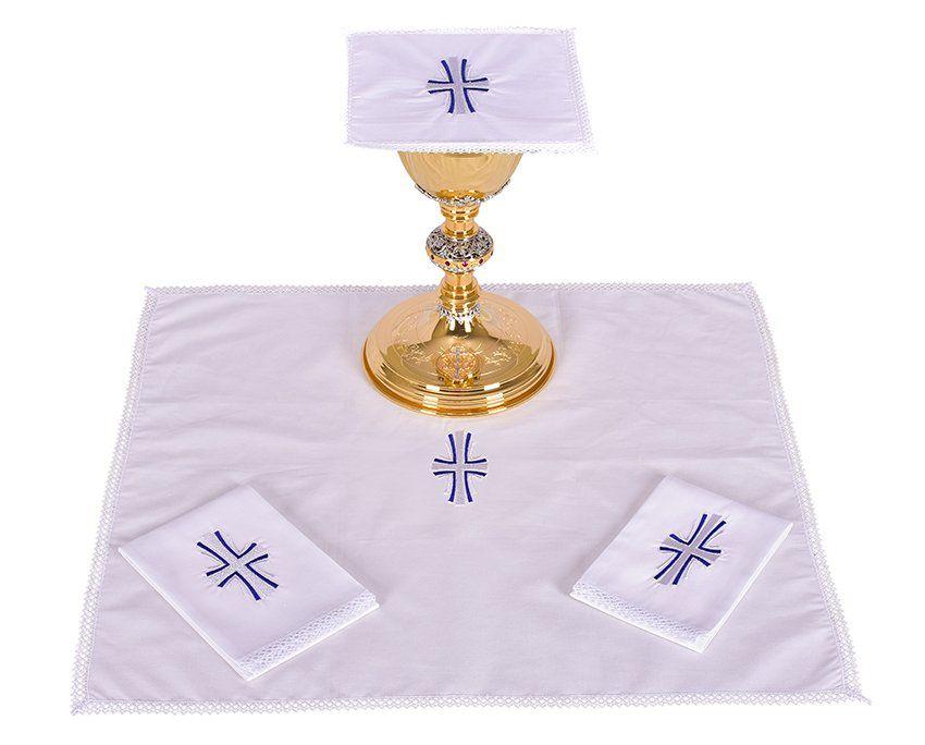 Conjunto de Altar Algodão Cruz B011