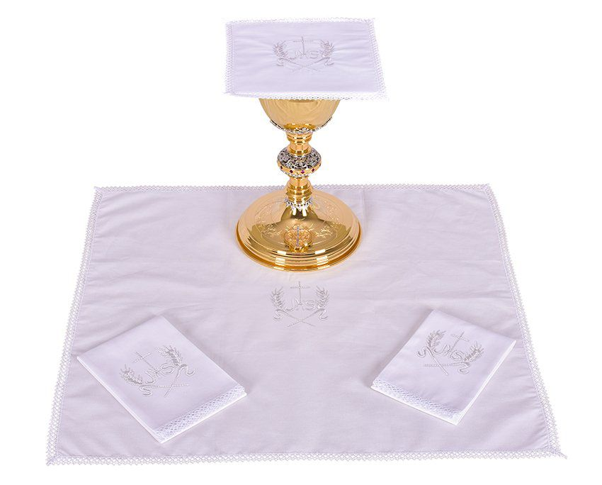 Conjunto de Altar Algodão Bordado JHS B013