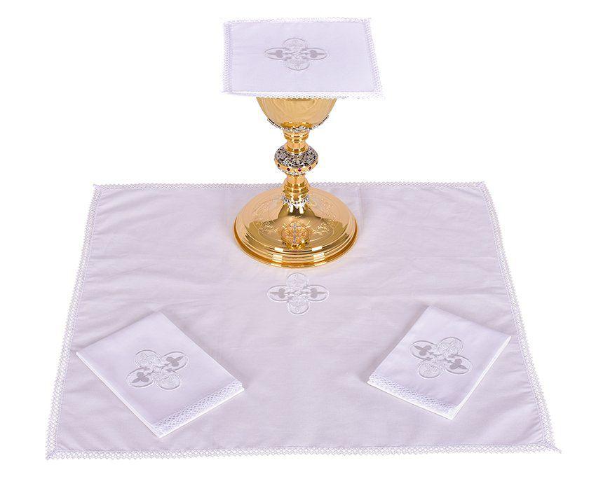 Conjunto de Altar Algodão Cruz Gótica B012