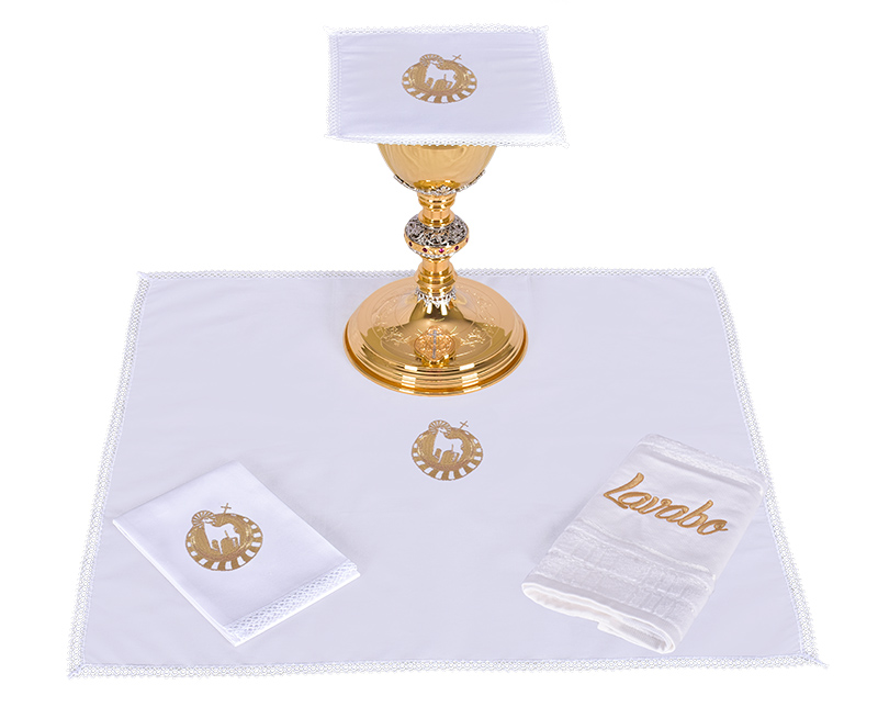 Conjunto de Altar Algodão Cordeiro CA117