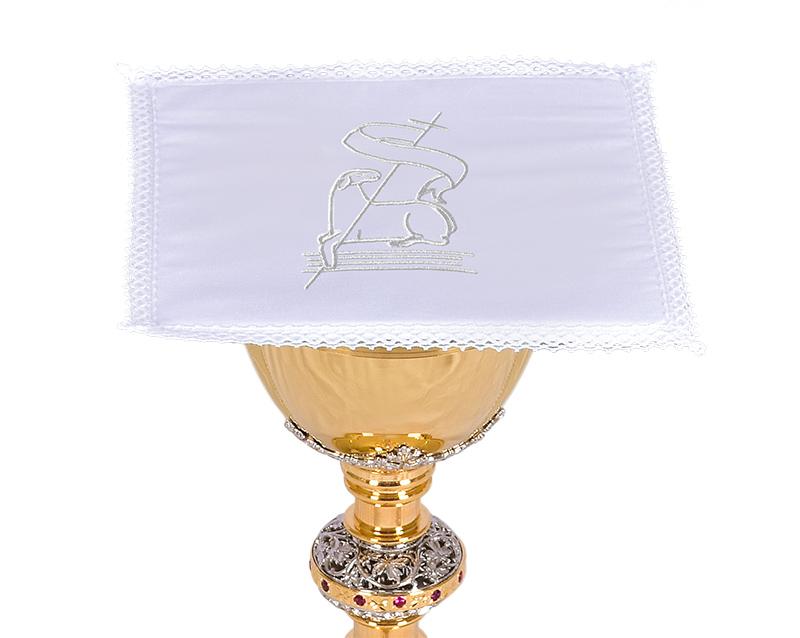 Conjunto de Altar Algodão Cordeiro e Cruz CA116