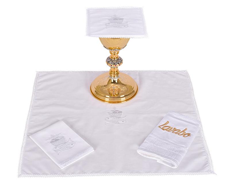 Conjunto de Altar Algodão Peixe e Pão CA114