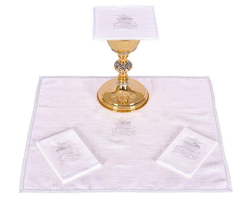 Conjunto de Altar Linho Peixe e Pão B009