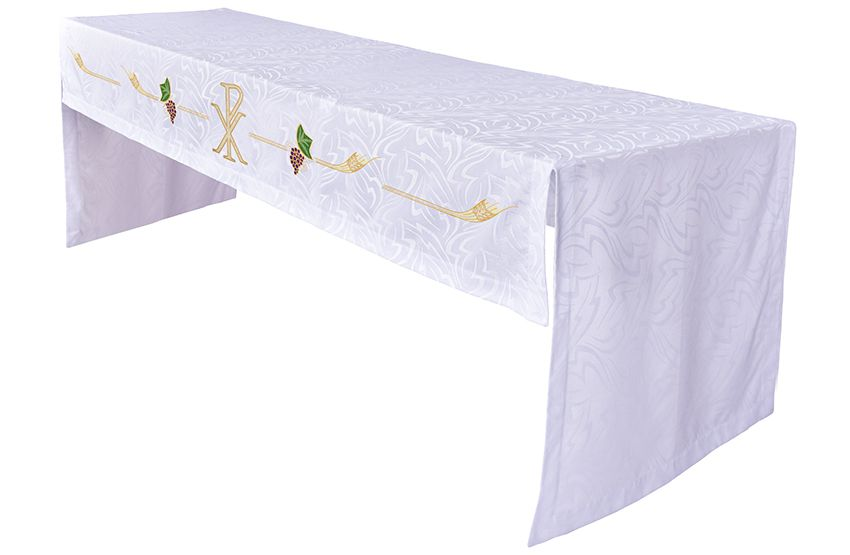 Toalha Altar Bordada 075 PX TO202 Bordado 288 cm
