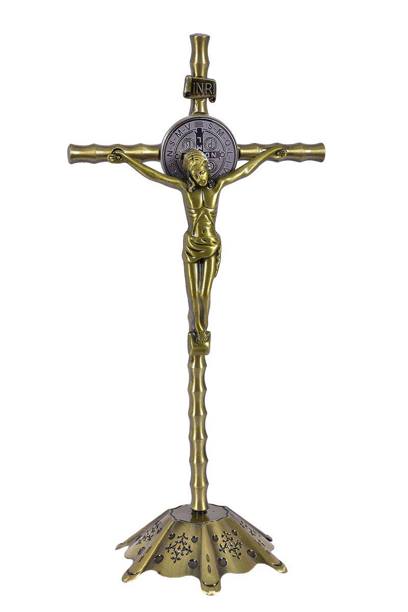 Crucifixo de Mesa Metal 22 cm
