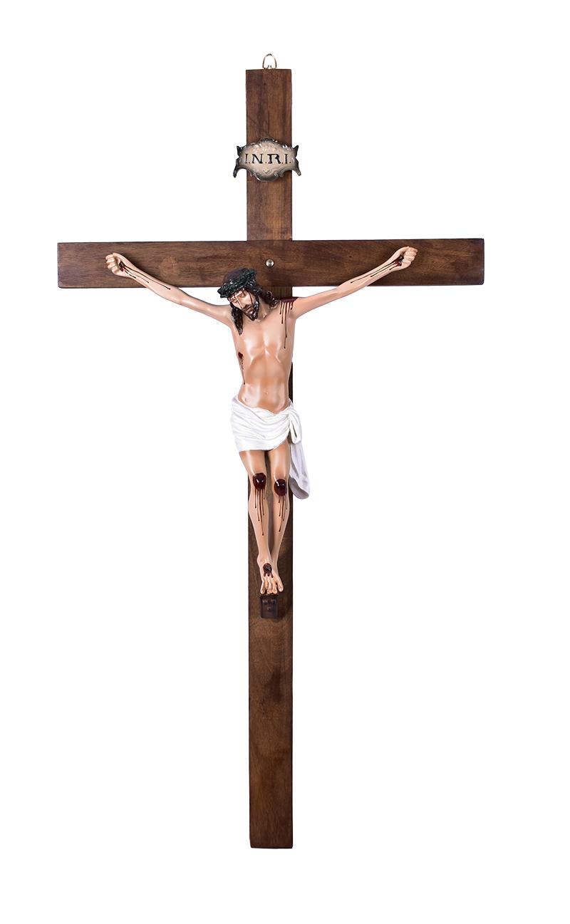 Crucifixo de Parede Resina 120 cm