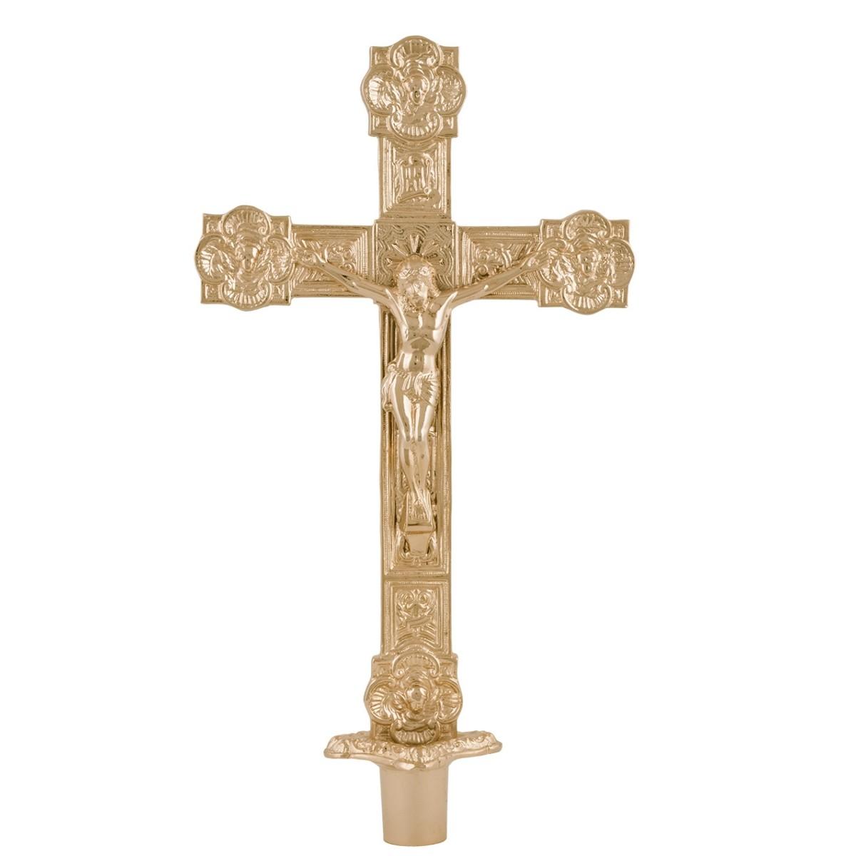 Cruz para Castiçal Dourada P41