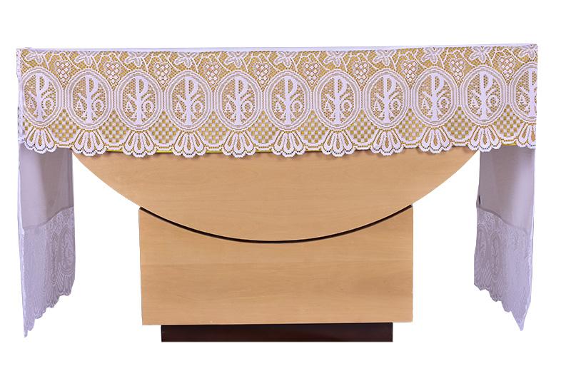 Forro Removível Toalha Altar Renda Litúrgica 30 cm até 3M FT001