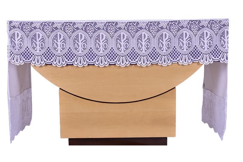 Forro Removível Toalha Altar Renda Litúrgica 30 cm até 5M FT003